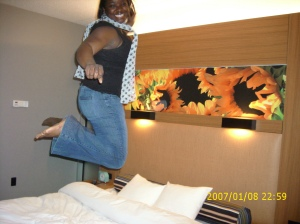 nye pic jumping on bed
